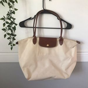 Longchamp Le Pliage Cream Tote